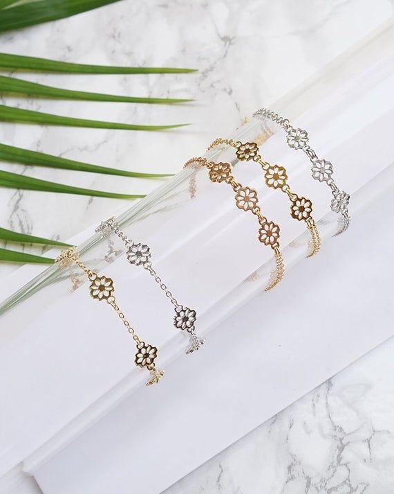 Photo of Minimal Bracelet For Women, Simple Dainty Jewelry, Mini Bracelet, Gold Plated Bracelet, Simple Dainty Bracelet For Women, Girlfriend Jewelry