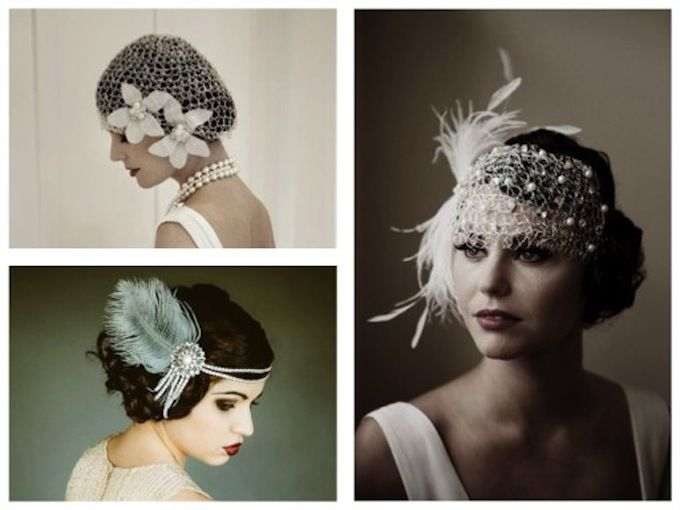 coiffure ann es 20 30 roaring twenties pinterest gatsby fascinator and mariage. Black Bedroom Furniture Sets. Home Design Ideas