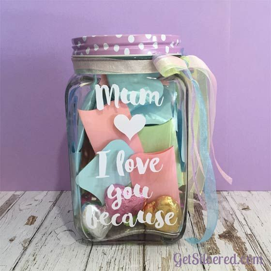 Decorated Jar filled with sentiments.