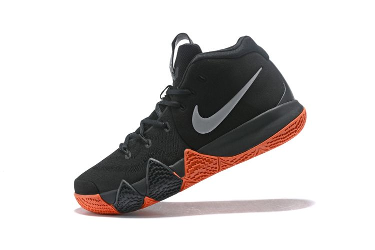 03e47f314647 Legit Cheap Nike Kyrie 4 Halloween Black Metallic Silver Bright Orange  Basketball Shoes
