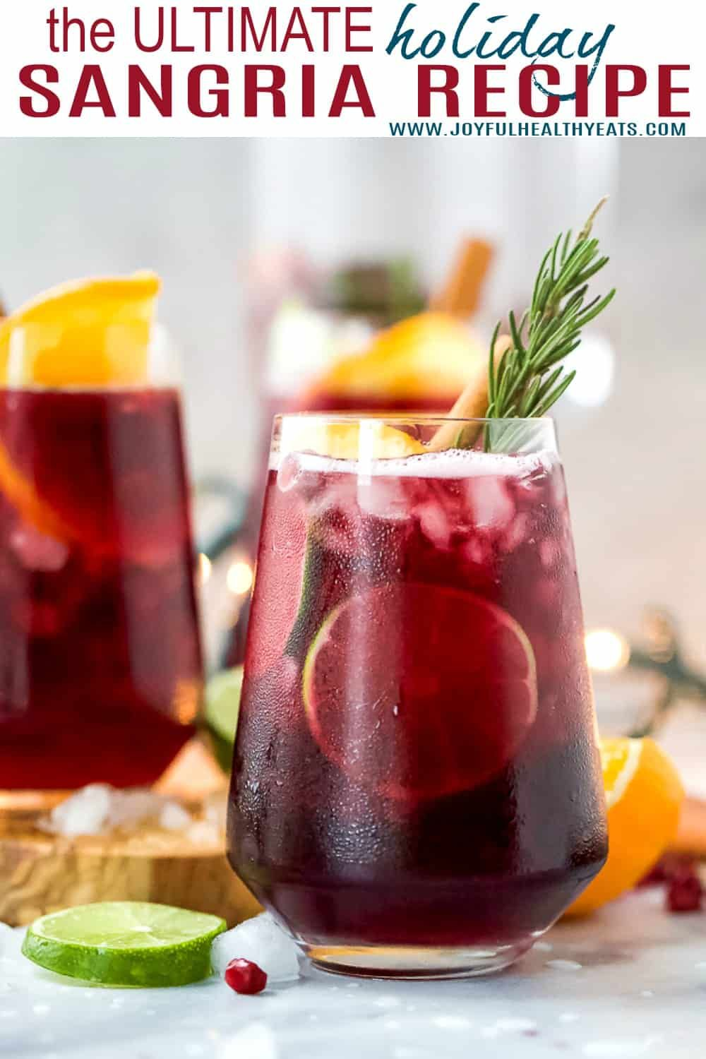 The Ultimate Holiday Sangria Best Red Sangria Recipe Ever Recipe Holiday Sangria Recipes Holiday Sangria Cocktail Recipes Easy