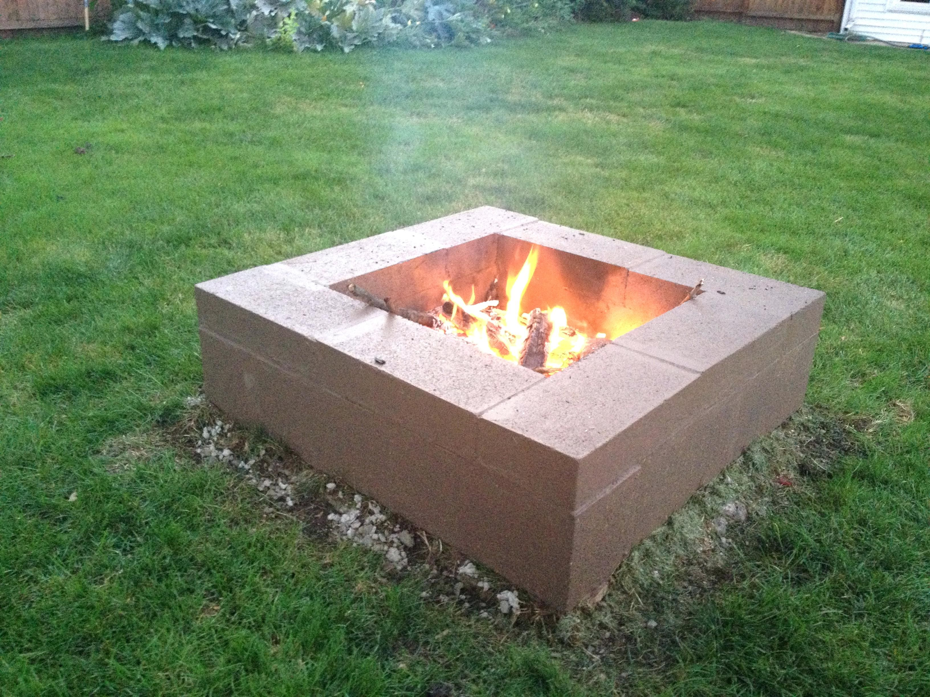Luxury Fire Pit Made From Cinder Blocks Articles With Making