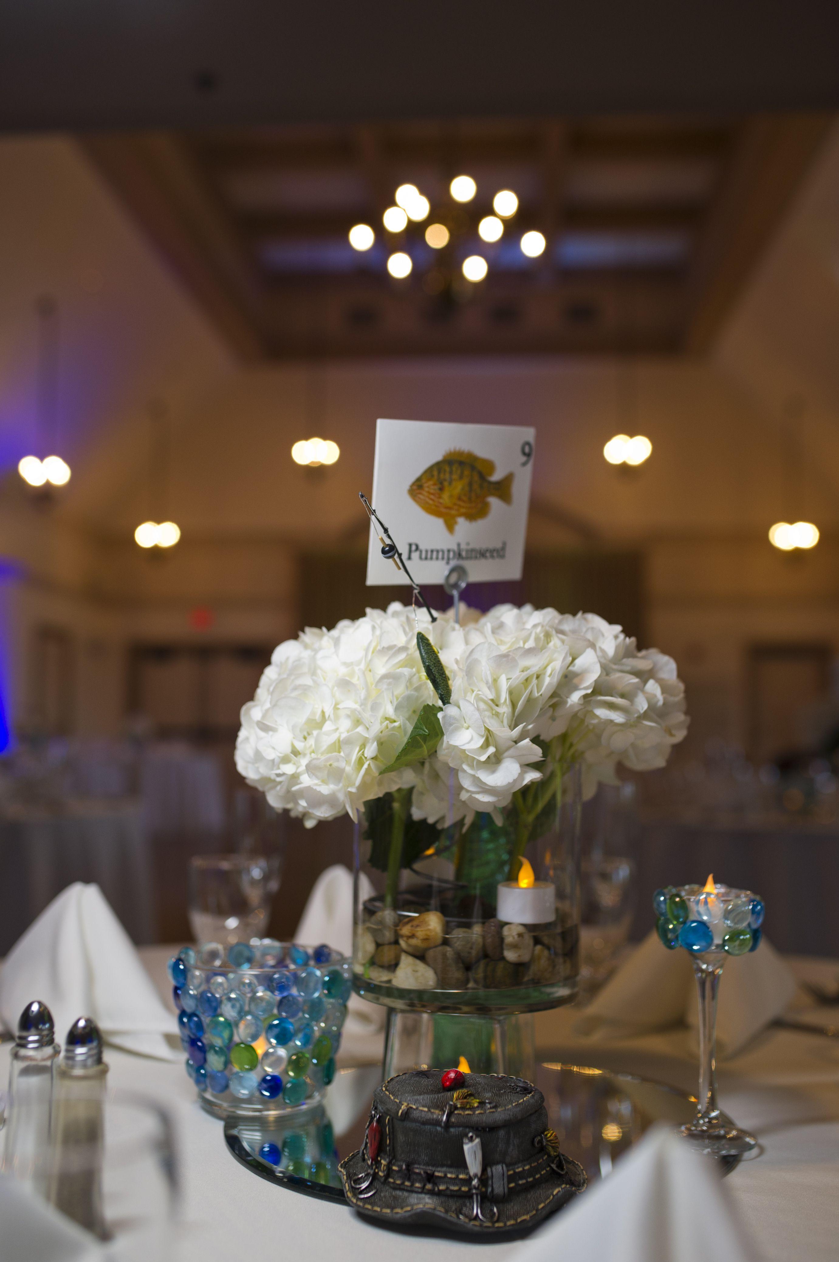 Fishing Theme Wedding Centerpieces Fishing Themed Wedding Fishing Wedding Wedding Centerpieces