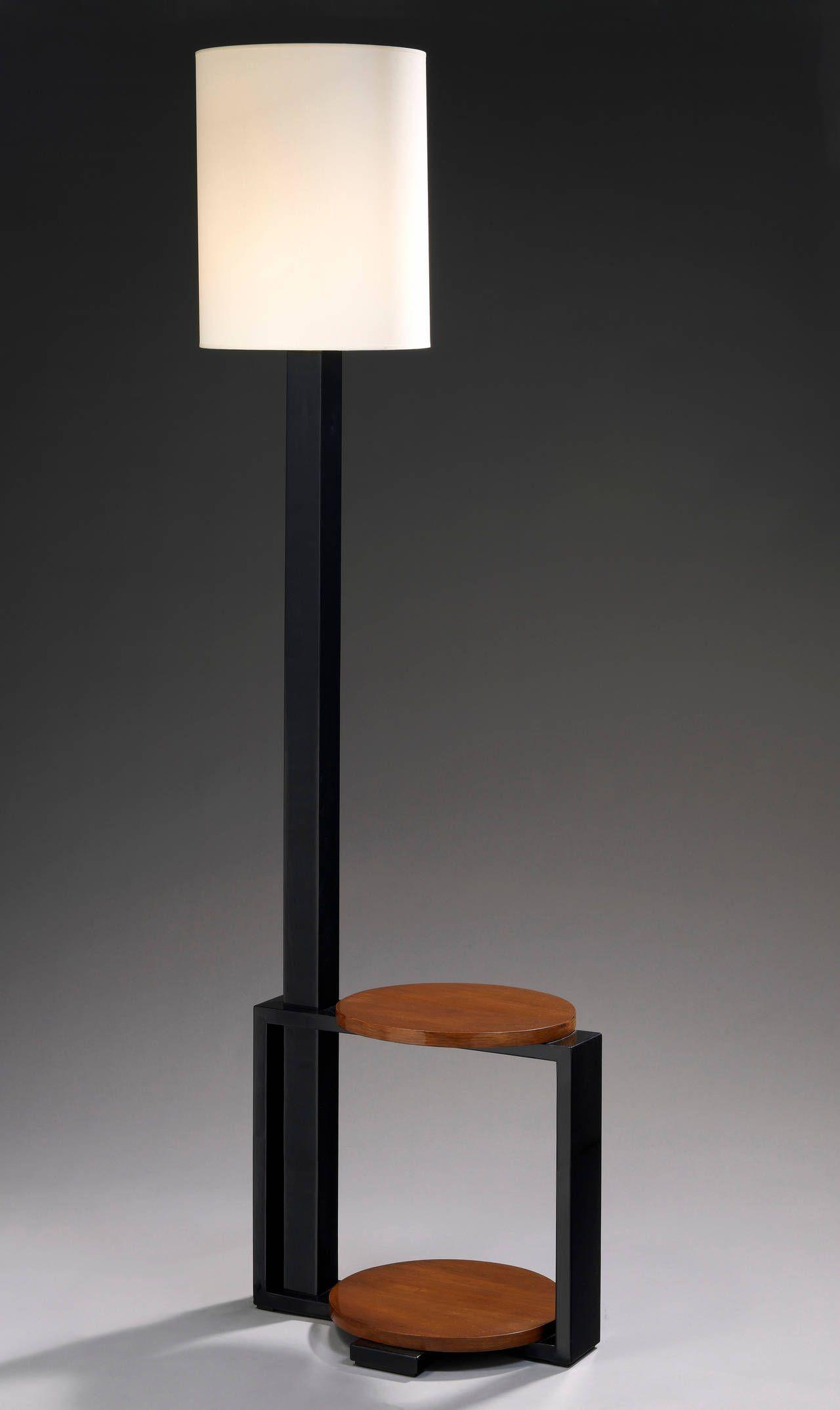 Andr Sornay, Mahogany Standard Lamp - 1Stdibscom