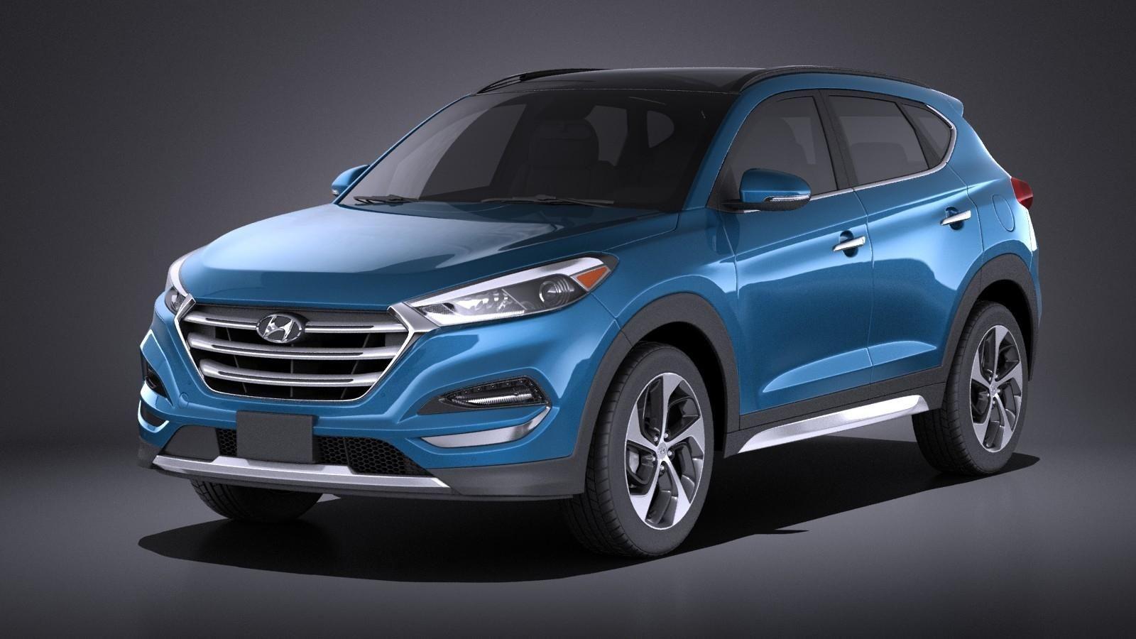 Hyundai Tucson 2017 VRAY 3D Model AD ,TucsonHyundai