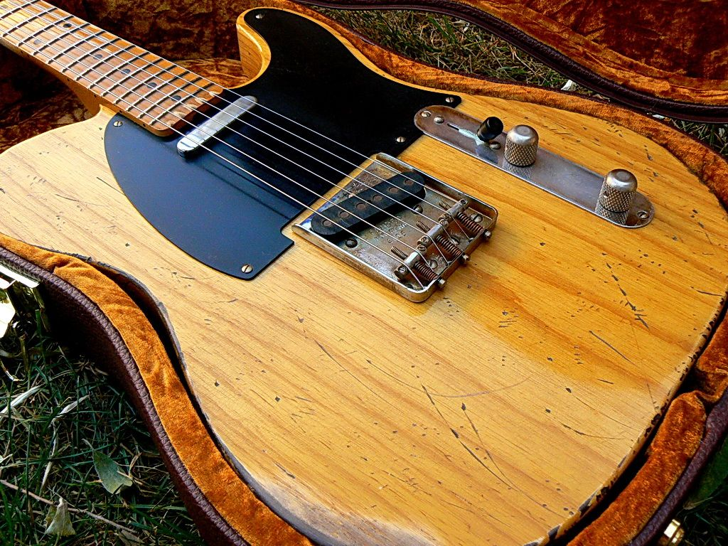 Sold Tundratone Custom 50s Blackguard Telecaster Guitars Home Electrics Rare Finds Used Vintage Hofner 463 S E3 Archtop Fender Psychobilly Electric Rockabilly
