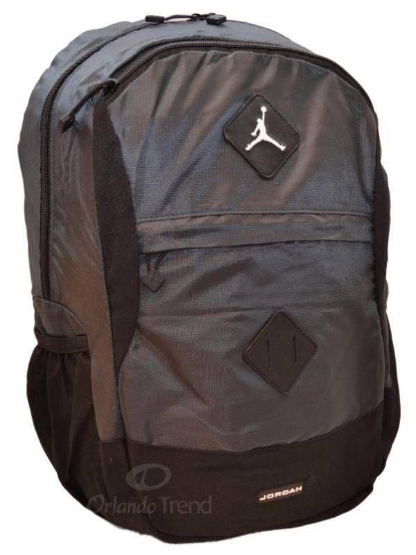 97b275e7d7b3 Nike Air Jordan Backpack Gamer Black Grey Bag Laptop Tablet Men Women Bag  Sleeve  Nike