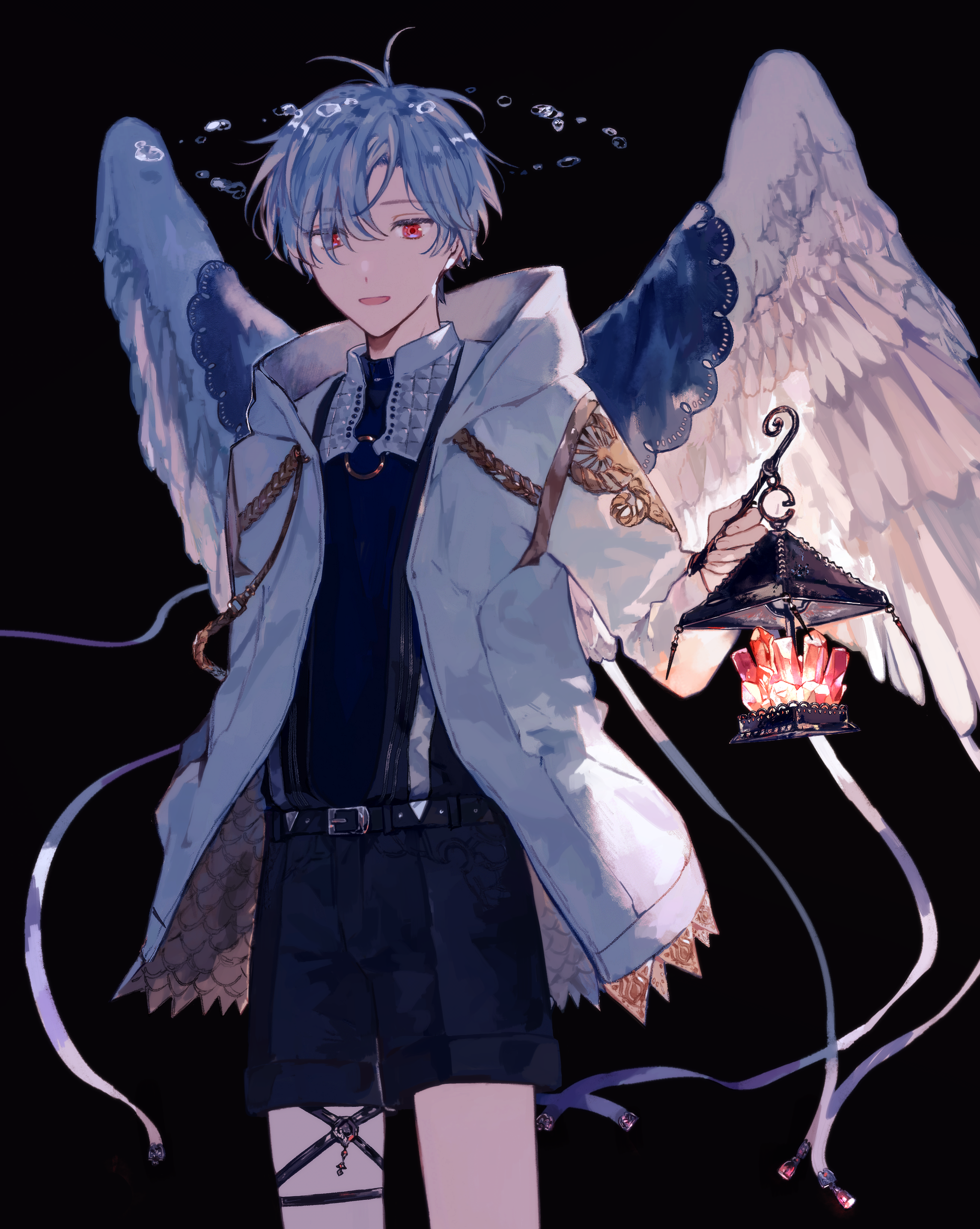 Cercei din argint Angel and Demon Heart