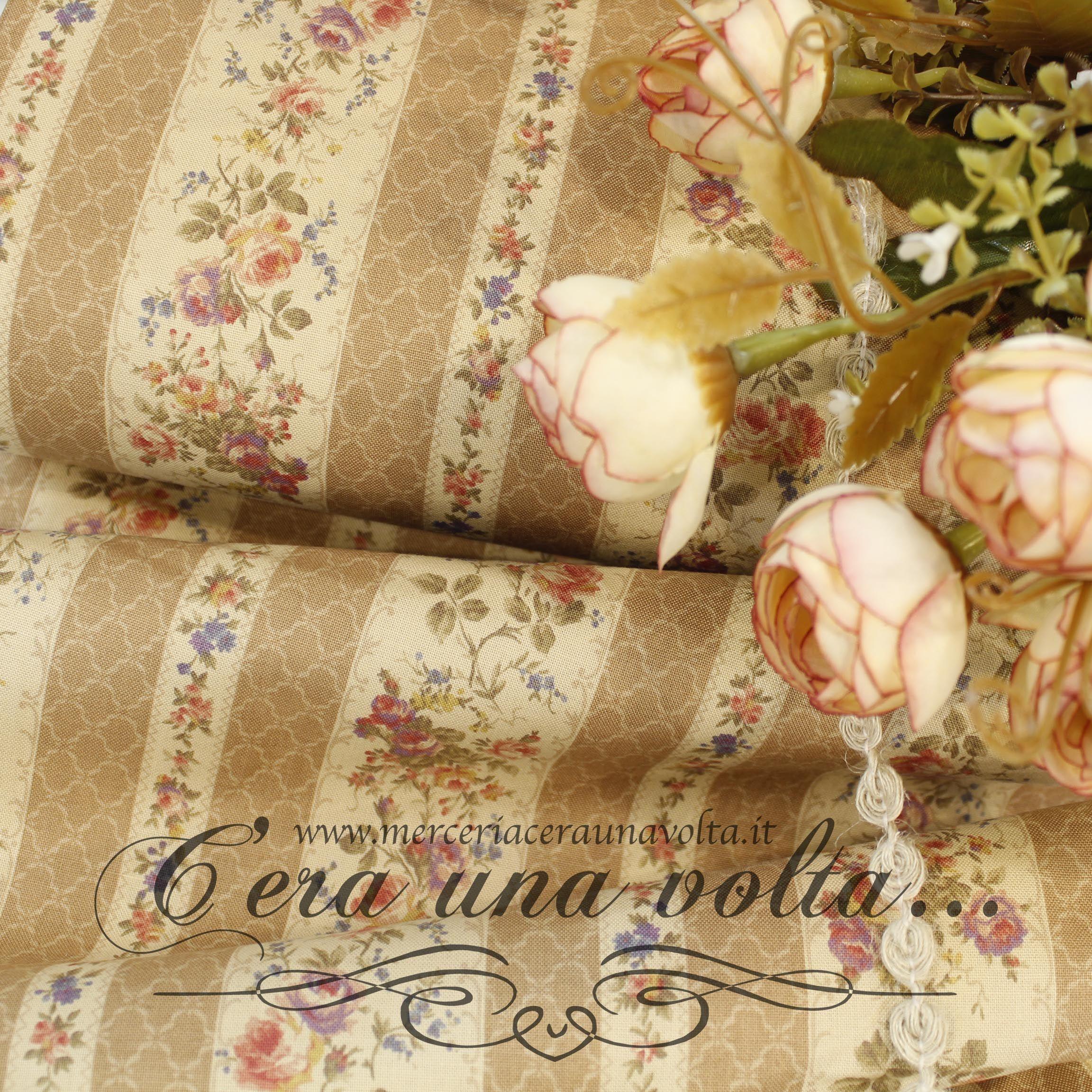 Tessuti da abbigliamento cerimonia, lycra e tessuti specifici per ballo, danza,. Tessuto Rose Shabby Chic Vintage Shabby Chic Tessuto Shabby Chic Tessuti