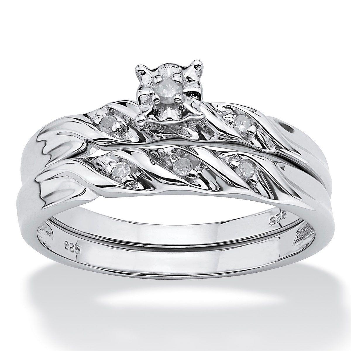 Palm Beach Jewelry Diamond Accent Platinum over Sterling
