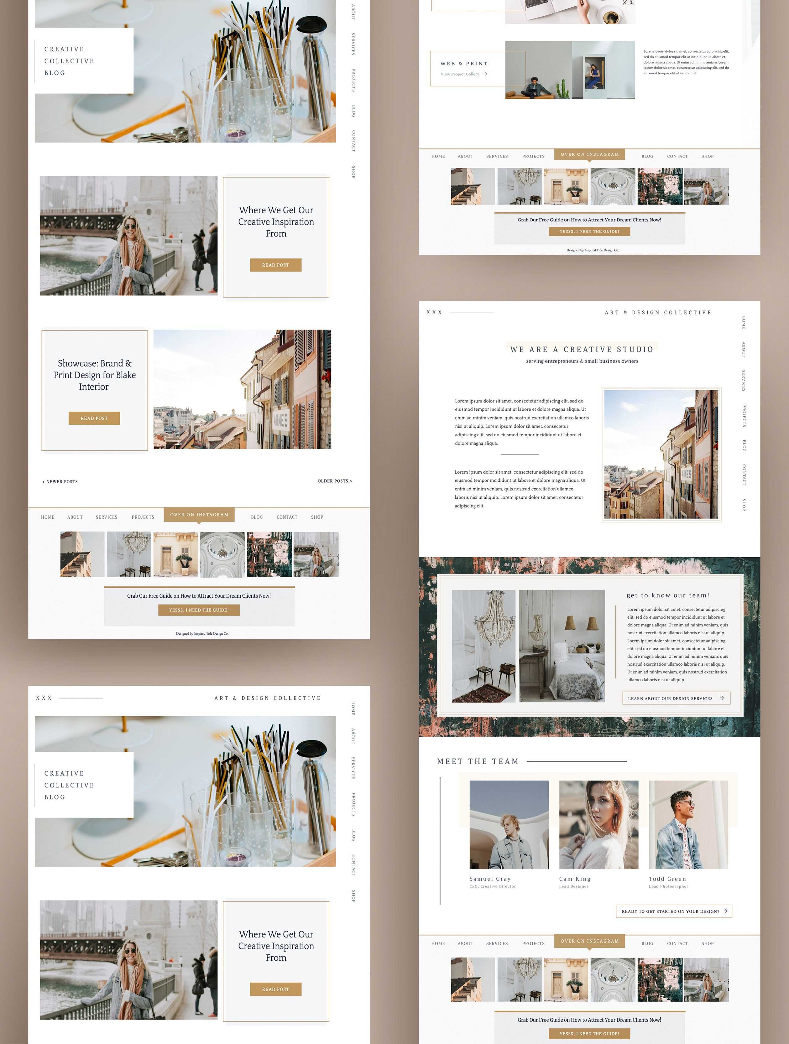 Beautiful effective and easy to use website template