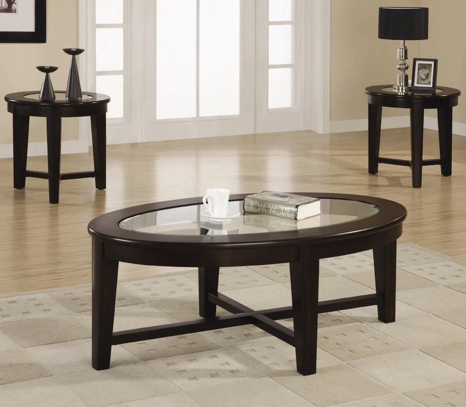 Dark Cuccino 3 Piece Occasional Table Set By Coaster Get Your At Seat N Sleep Portage Mi Furniture