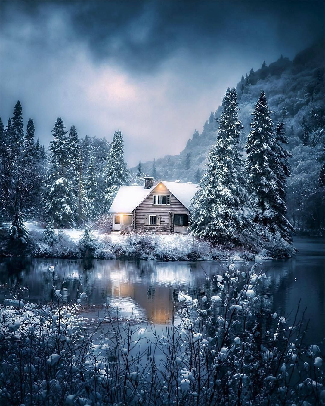 самые красивые зимние пейзажи мира фото