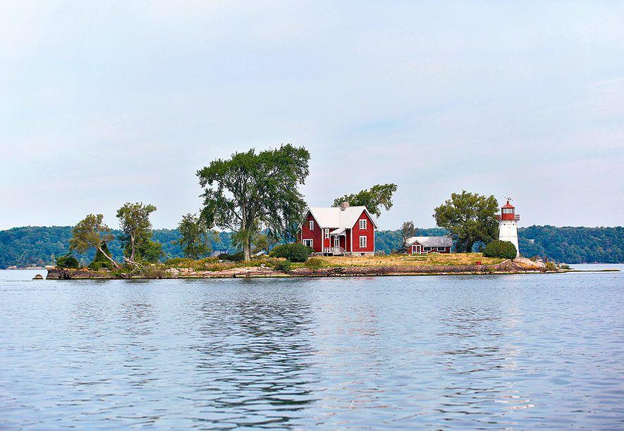 Kaum 100 Meter trennen Crossover Island vom kanadischen Festland. Das Haus des Leuchtturmwärters wird seit 1960 als privater Wohnsitz genutzt
