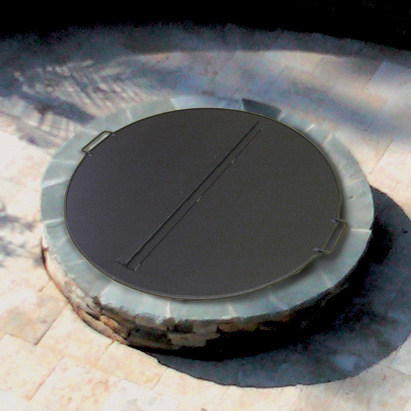 Square Or Round Folding Fire Pit Snuffer Cover Round Fire Pit Cover Fire Pit Cover Outdoor Fire Pit Designs