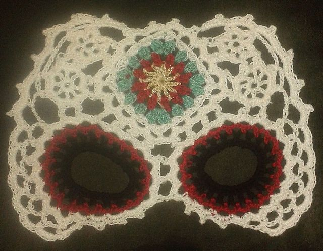 Sugar Skull Mask pattern by Farrah Hodgson | Crochet | Pinterest