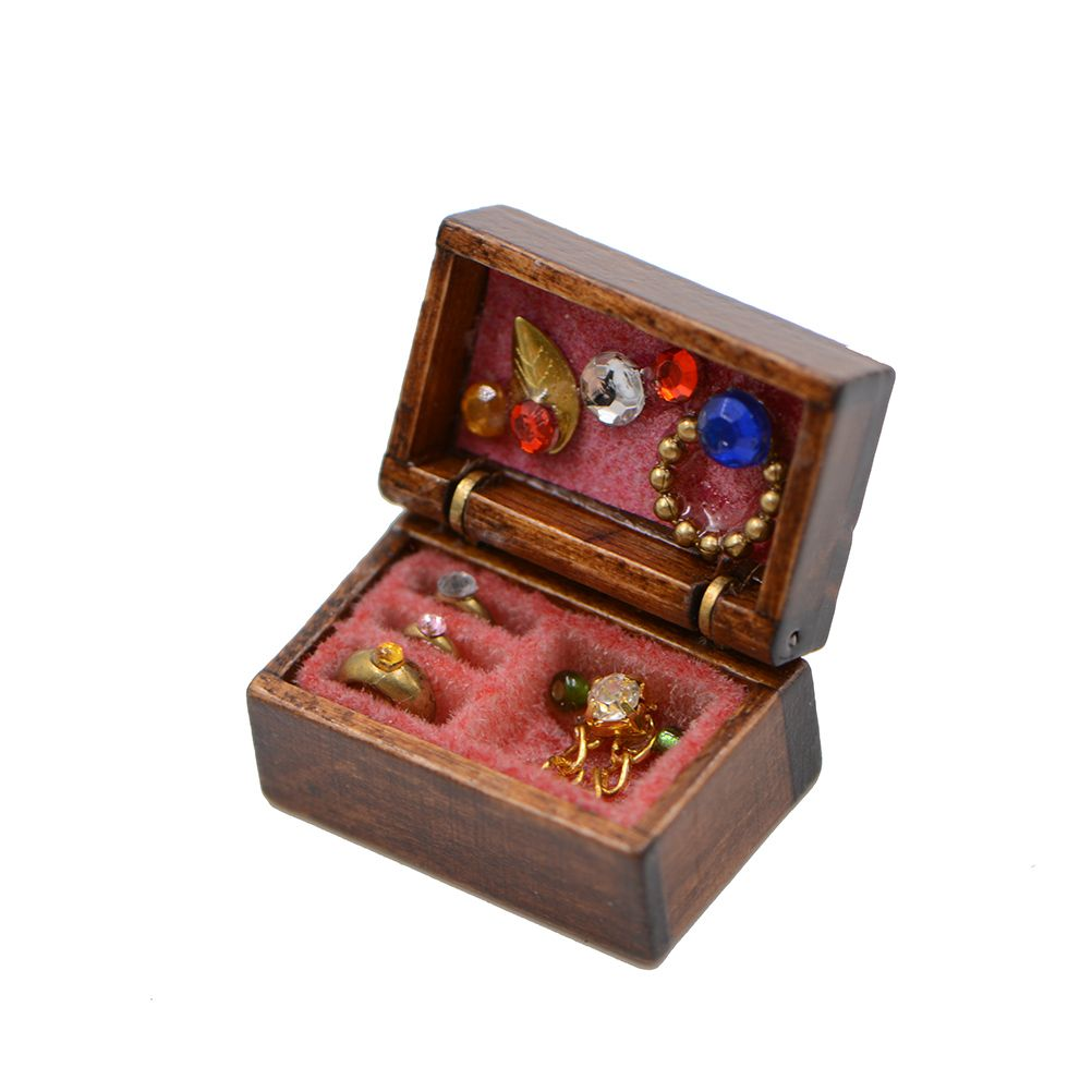 Dollhouse Miniatures Jewelry Box Doll Room Decor House AccessoryS*
