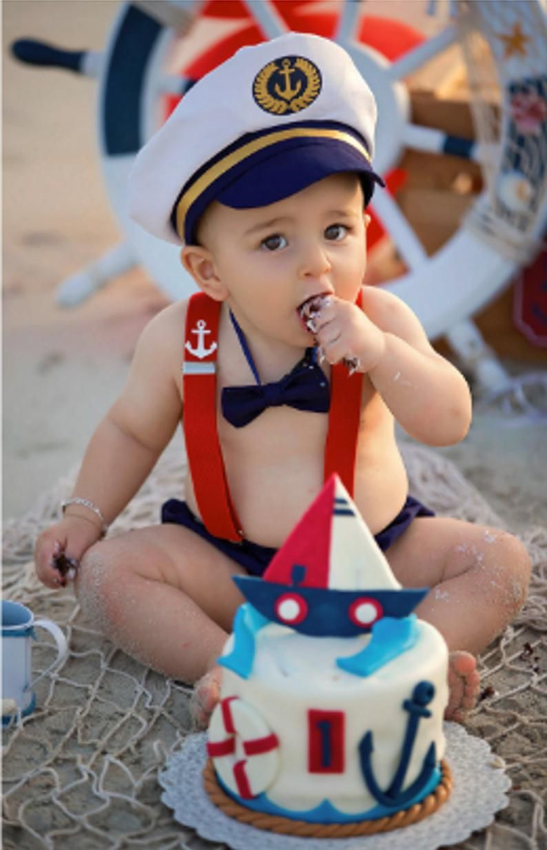 Baby ship captain 1st birthday outfit in 2020 1st boy