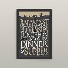 Image result for poster hobbit meals