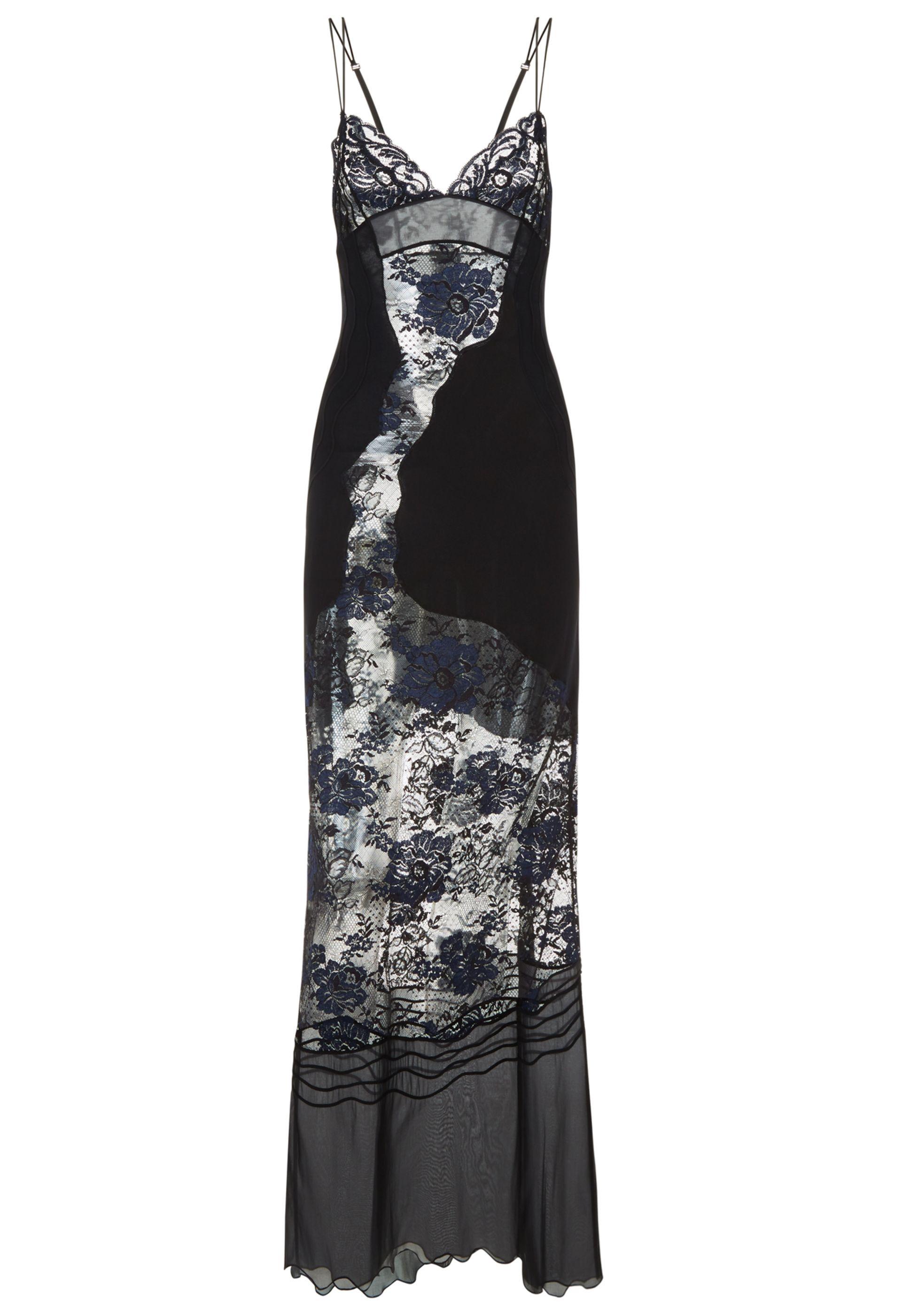 b77f1687c0de LA PERLA   Black silk georgette and Leavers lace nightgown with soutache  embroidery #laperlalingerie #lingerie