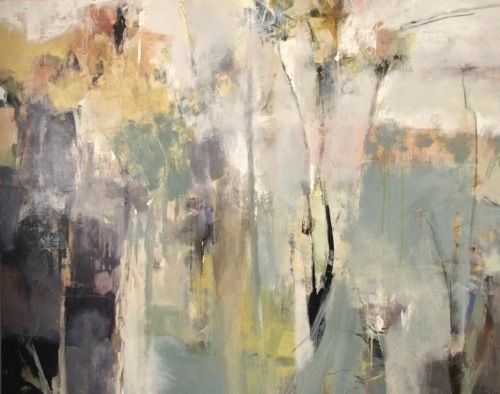 "Unplanted Garden-Abstract Landscape by Joan Fullerton Mixed Media ~ 48"" x 60"""