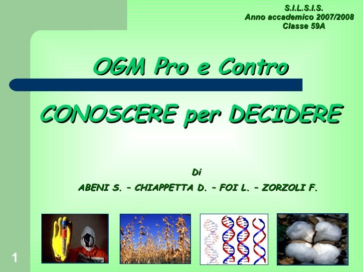 Ogm Presentazione 3 Giugno 2008