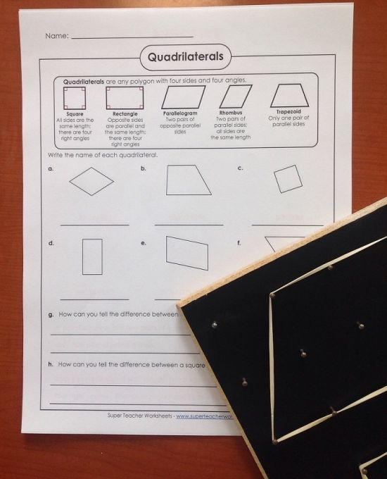 Squares, and rhombuses, and trapezoids - oh my! STW has ...