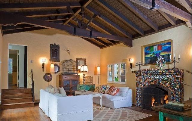 Vaulted ceiling wooden beams google search remodel for Wood vaulted ceiling