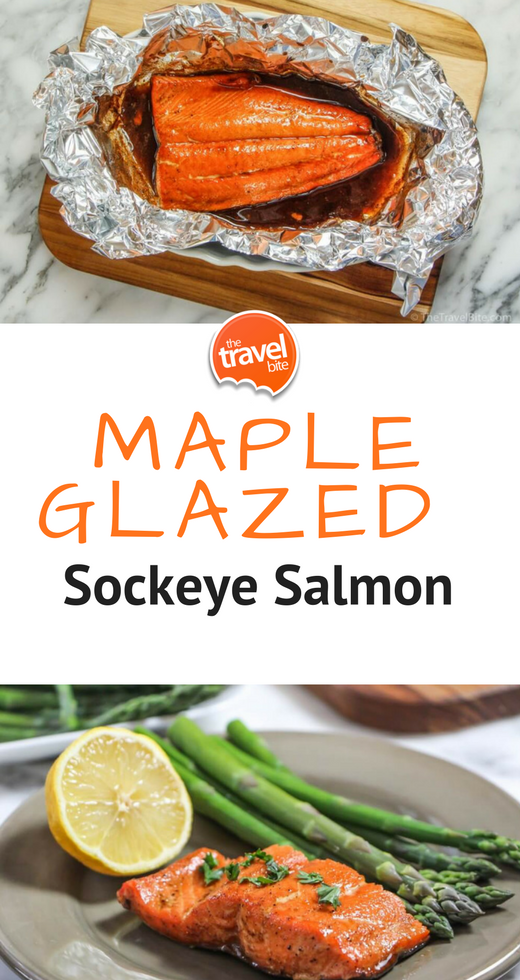 Photo of Maple Glazed Sockeye Salmon – The Travel Bite