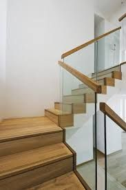 Modern Glass Rail Stair With Wood Cap Google Search