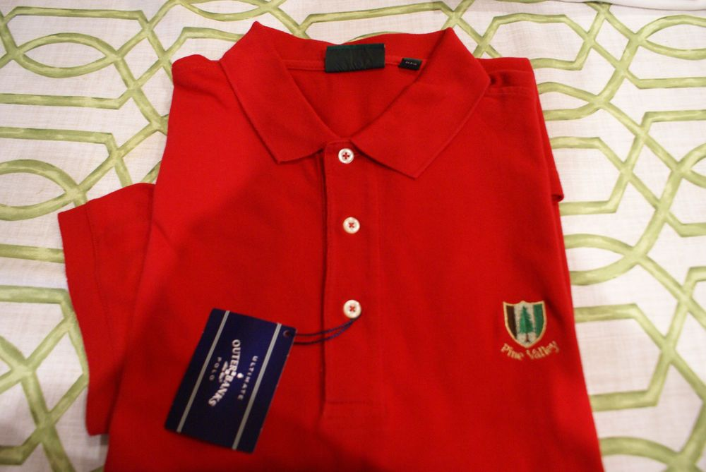 Pine Valley Country Club Mens Golf Shirt Size XL Red New ...