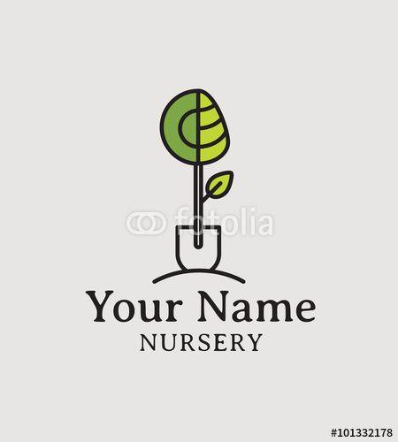 Pepiniere Pepinieriste Paysagiste Jardinier Photo Libre De Droits Sur La Banque D Images Fotolia Com Image 101332188 Paysagiste Idees Logo Banque Image