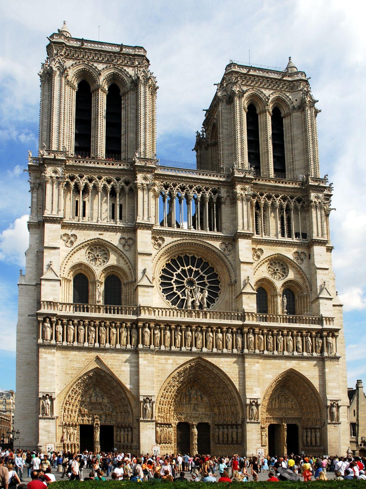 Notre Dame Paris Arquitectura Gotica Fachadas De Iglesias París