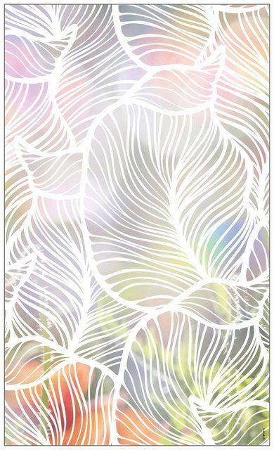 Fensterfolie »look Leaves white«, 60 x 100 cm, statisch