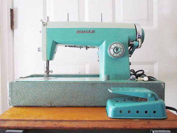 RetroTurquoiseWhiteBrandHeavyDutySewingbyReCreative40 Cool Enchanting White Heavy Duty Sewing Machine