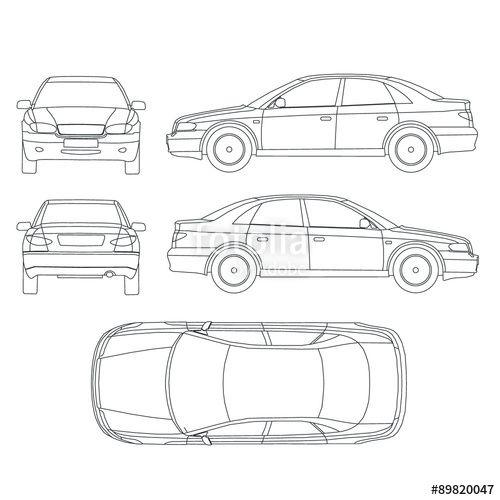 Vector: Car line crash insurance protocol | Varios | Vector free