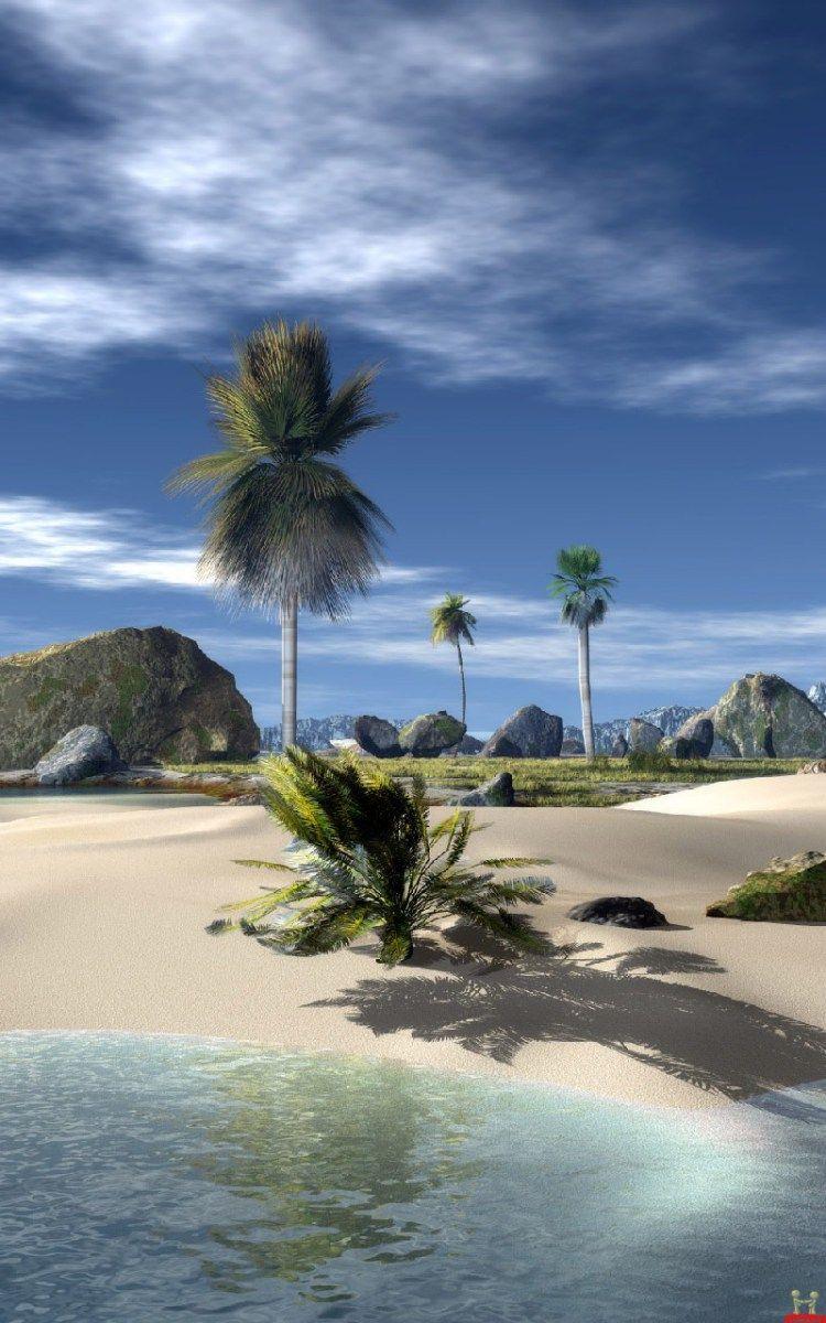 3d Beach Beautiful Samsung Galaxy Note Wallpapers Beach Wallpaper Island Wallpaper Nature Beach