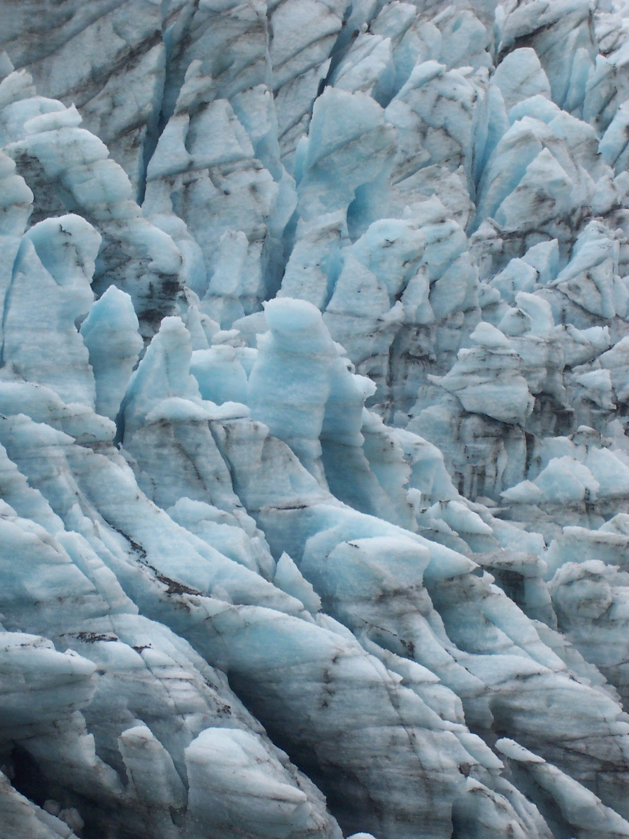 Glacier ice texture Fox Glacier NZ Ice texture