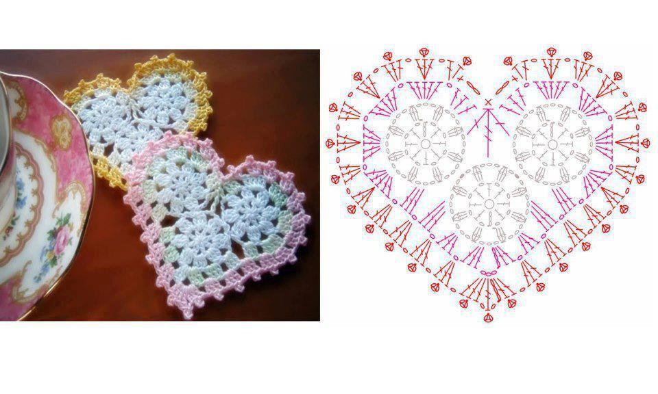 modeles et grilles a imprimer | Corazon crochet, Mimos y Lilas