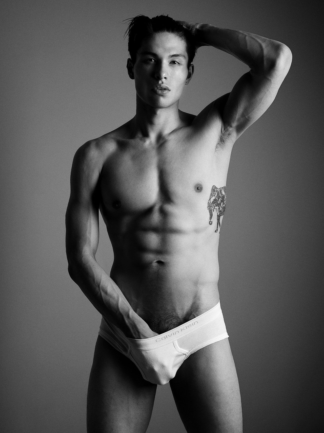 Sexy chinese male model