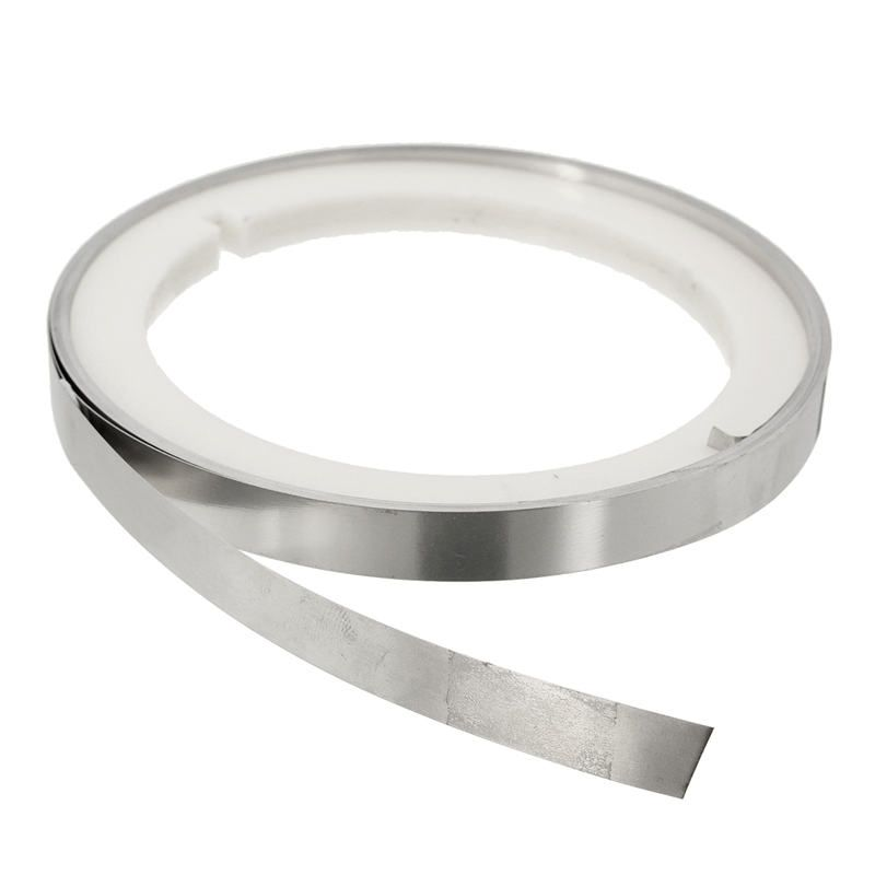 5m Pure Nickel Welding Tape 10x0 15t Plated Steel Strip Sheet For Battery Pack Diy Dia10 6cm Silver Corrosion Resistance Pure Products Plating Welding