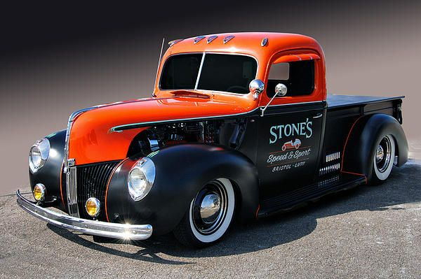 Stones Speed & Sport 1940 Ford pickup spotted at the LA Roadster show, Pomona, California