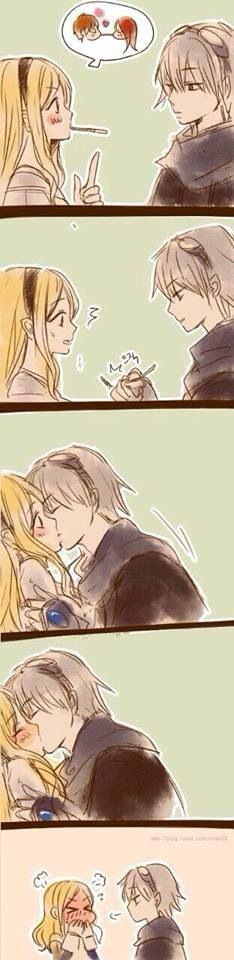 """Ezreal and Lux, the second best pairing in League """"you don't need to play the pocky game to get a kiss."""" <== cute =w="""