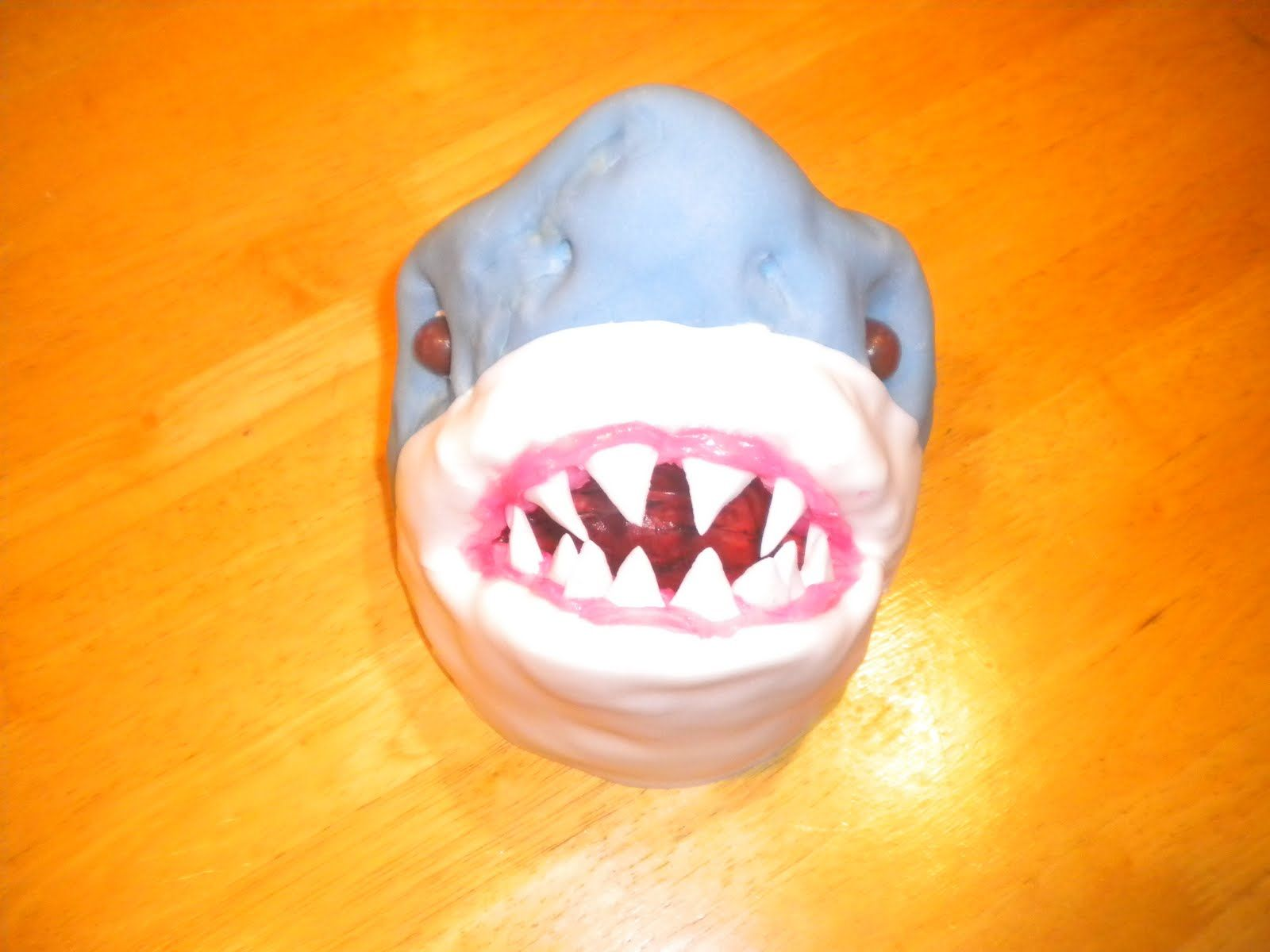 Once Upon a Crafty Mom: Shark Cake Topper