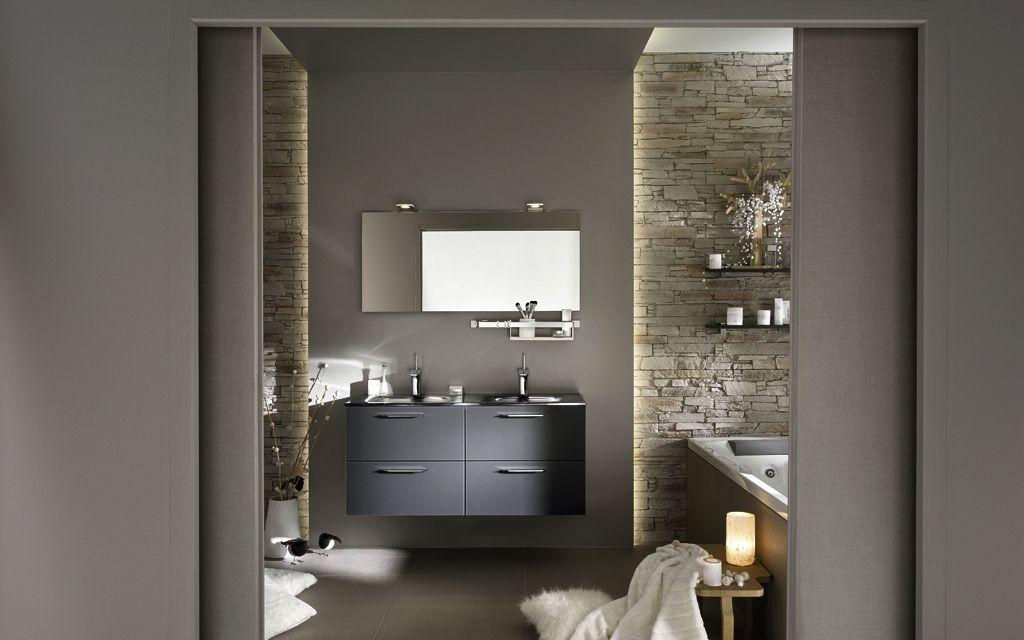 Meuble de salle de bains double vasque Unique Ice | Delpha ...