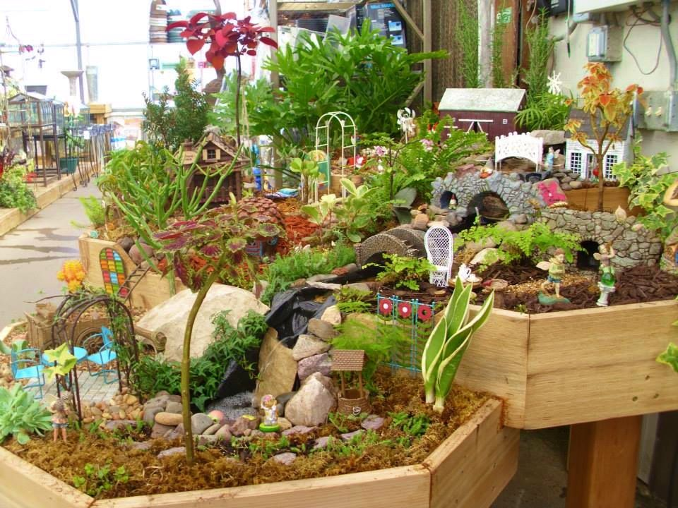 our indoor fairy garden complete with waterfall at the. Black Bedroom Furniture Sets. Home Design Ideas