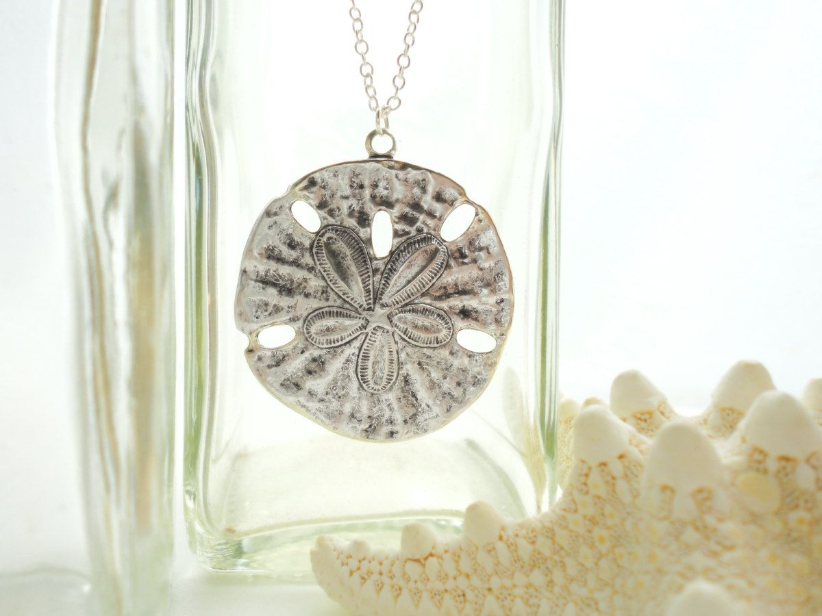 Sand dollar necklace silver sand dollar pendant necklace sand dollar sand dollar necklace silver sand dollar pendant necklace sand dollar jewelry sand dollar wedding sterling silver necklace gift for her aloadofball Image collections