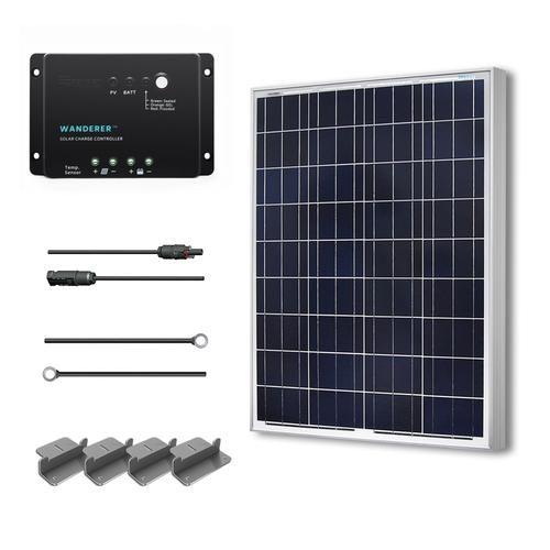 Renogy 100 Watt 12 Volt Solar Starter Kit Polycrystalline Solar Kit Solar Power Diy Solar Panel Kits
