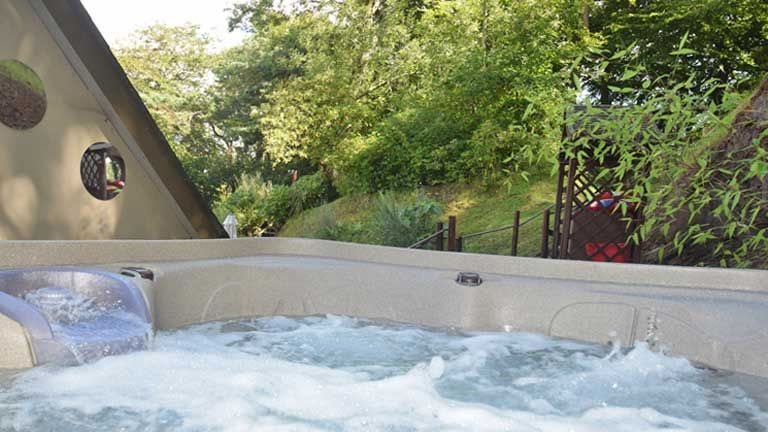 The Hot Tub Is Hidden Away Amongst A Canopy Of Trees At The Quantock Hide A Luxury Self Catering Holiday Home In The Quantock Hil Luxury Boutique Retreats Outdoor