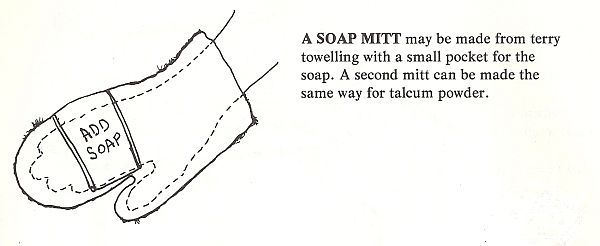 Making A Terry Cloth Bath Mitt With Soap Pocket From